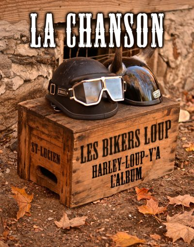 les bikers loup harley loup y a album