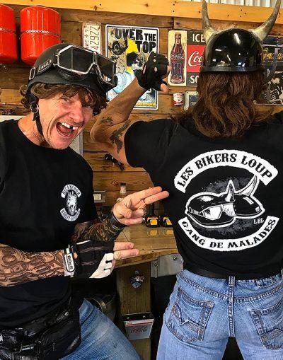 tshirt bikers loup