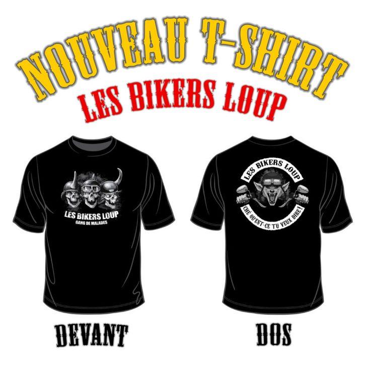 nouveau t-shirt Bikers Loup